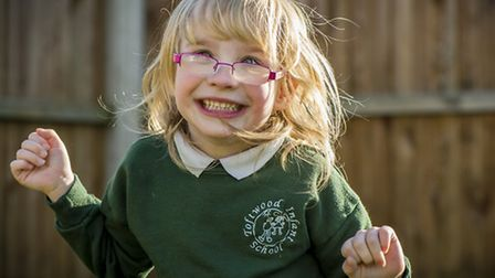 Izzy Eve from Beetley, has cerebal palsy and needs a specially kitted out wheel chair and other equi