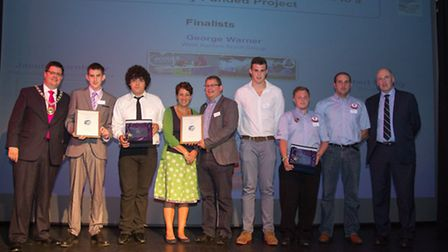 Finalists and winners of the Outstanding contribution by a young person to a Big Society-funded proj
