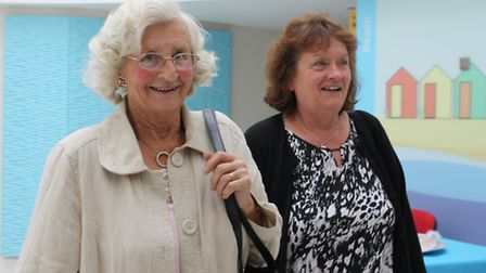Dementia carers Louise Mayhew and Audrey Williams at Hammerton Court, Norwich.