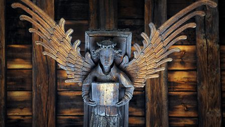 One of the chapel's carved angels. Picture: Matthew Usher.