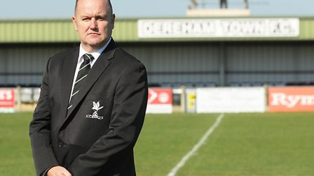 Dereham Town chairman Simon Barnes will welcome Norwich City to Aldiss Park for the Canaries' openin