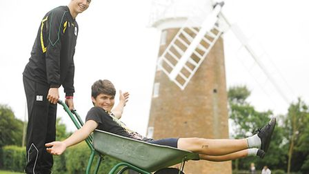 Dereham Windmill trustees are working with the Youth Enterprise Scheme. Pictured (from left) Sebasti