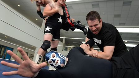 Falling Starr Wrestling put on a bout at King's Lynn Academy, as a surprise for the last day of term