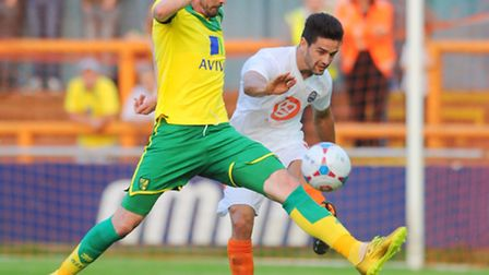Norwich City striker Kyle Lafferty impressed in a 6-1 romp at Braintree. Picture: EADT