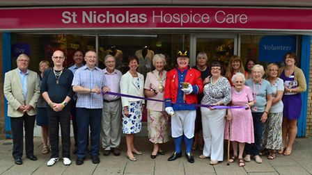 St Nicholas Hospice Care open new shop in Thetford.
