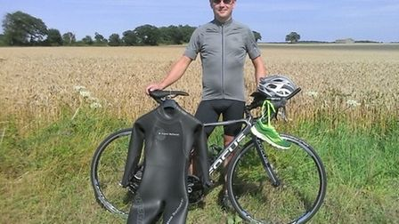 Mark Hilton who is tackling a triathlon at Cromer for three charities