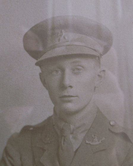Reginald George Cubitt during the First World War, in the Norfolk Regiment. He later became Colonel