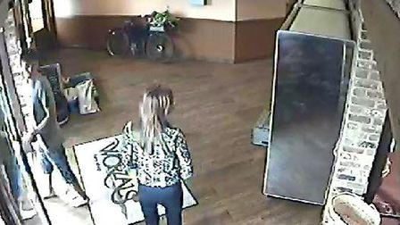 CCTV images of Tadas and Nonita at Worzals, in Wisbech, shortly before they died on the A47.