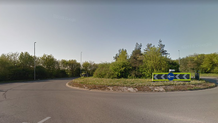 A woman in her 80s has died following a crash on the A140 at the Dickleburgh roundabout, near Diss