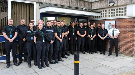 The first 30 of 50 new neighbourhood police officers that were recruited last year were pictured in September 2019 with...