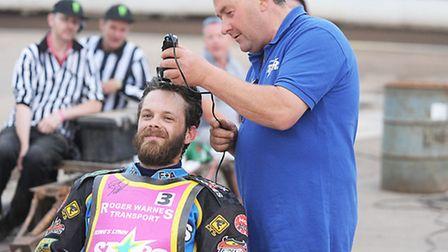 Rory Schlein had his hair shaved off the last time Lynn rode. Picture: Ian Burt