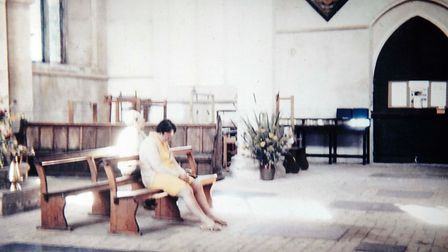 Diane Berthelot and her Husband Peter were visiting Worstead church in 1975 and captured a photo of