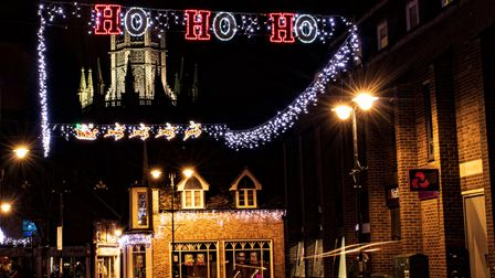 Ely lit up for Christmas 2020