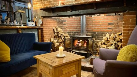 Inside the newly refurbished White Horse at South Lopham