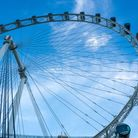 Closeup of Singapore Flyer - the second largest Ferris Wheel in the World.