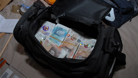 Cash seized from Operation Costello in Bedfordshire