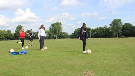 Felsted School senior pupils are back in school and getting exercise after coronavirus lockdown has