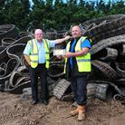 Beccles based Aquablast Ltd have developed a unique process to recycle rubber excavator tracks. The