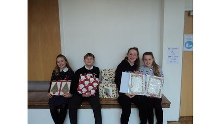 Helena Romanes pupils send Christmas presents to care home residents