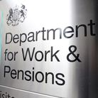 Signage for the Department for Work & Pensions in Westminster. Photograph: Kirsty O'Connor/PA.