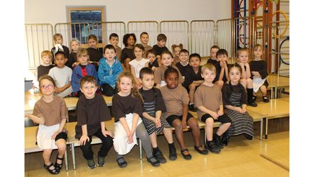 Pupils at Dunmow St Mary's Primary School