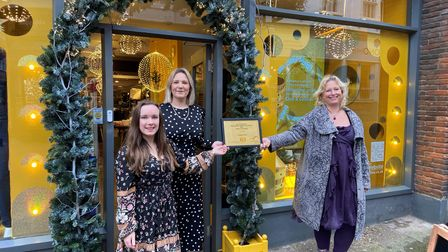 Javelin was a runner-up in the Bury St Edmunds Christmas window competition this year