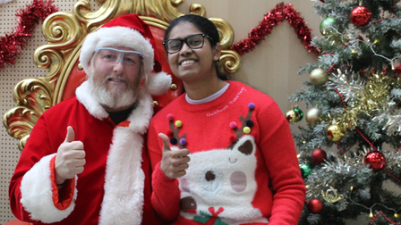 Deaf Academy students got the chance to see Santa