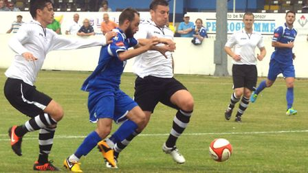 Lowestoft Town FC versus King's Lyn during the summer of 2013 at Crown Meadow. Pictures: MICK HOWES