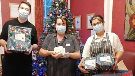 Children from Colby Primary School in North Walsham delivered care workers and residents a festive surprise ahead of...