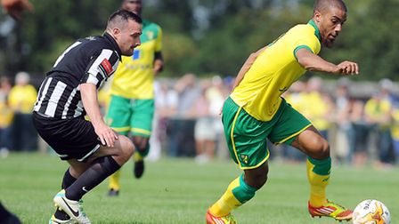 Norwich City's Lewis Grabban was on taget again for the Canaries against Celta Vigo at Carrow Road.