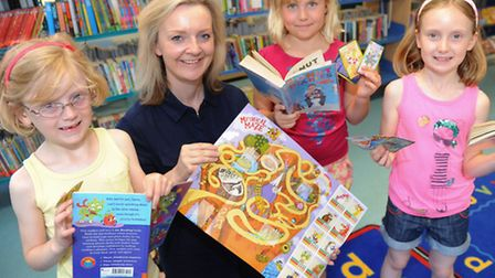 A new summer reading challenge is launched by MP Elizabeth Truss at Thetford library, it rewards goo