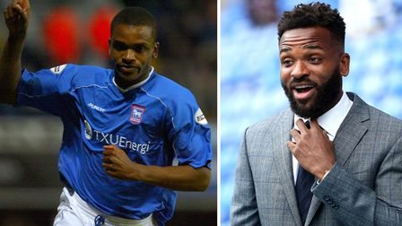 Darren Bent, pictured during his early years as an Ipswich Town player and now working as a pundit. Picture: PA