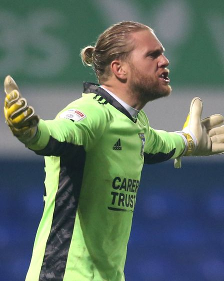 Ipswich Town goalkeeper David Cornell during the Sky Bet League One match at Portman Road, Ipswich.