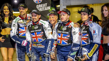 Scenes and action from the Speeway World Cup held at the Norfolk Arena near King's Lynn - Which saw