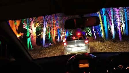 Some visitors to theSanta's drive-thru grotto at Taverham Hall experienced queues for more than two hours.