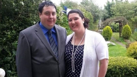 Steve and Sarah Burbage from Great Yarmouth before their weight loss.