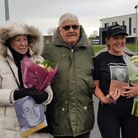 Paul's parents Diane and Brian Murfitt with his sister Andrea Sullivan nee Murfitt after presentation of flowers to them by the participants. The Paul Murfitt inspired 'Paul's Memory Runs On' event raised £1000 plus for Littleport Fire and Rescue!