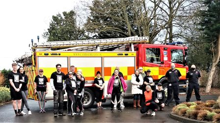 Presentation to the fire crew following the Paul Murfitt inspired 'Paul's Memory Runs On' event that raised £1000 plus for...