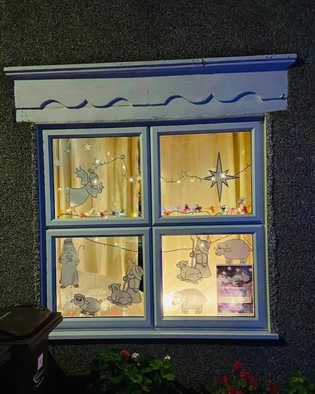 A window display as part of the walk around nativity.