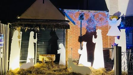 A display as part of the walk around nativity.