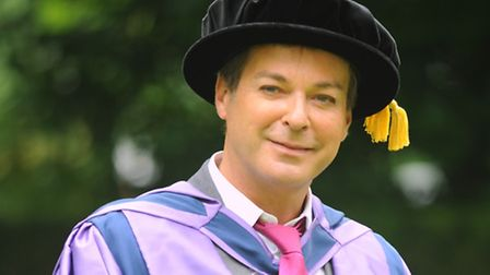 UEA graduation ceremony. Julian Clary receives an honourary degree. Picture: Denise Bradley