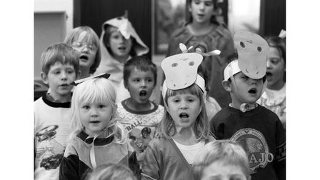 Woolpit Primary School's nativity play in December 1990