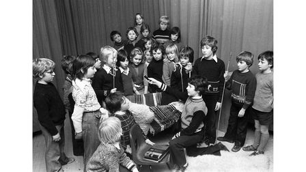 Nativity competition winners at Whatfield School in Suffolk in December 1976
