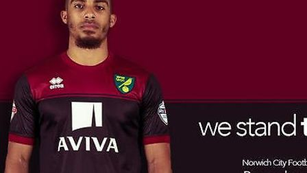Norwich City's new away kit for the 2014/15 season