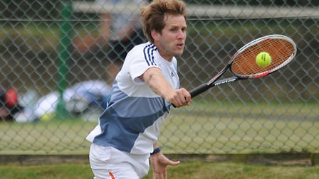 The Aegon Summer County Cup tennis competition at Cromer. James Auckland (pictured) and Barry Fulche