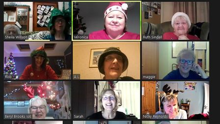 The Ely City Women's Institute celebrated Christmas with a Zoom party on Monday December 14.