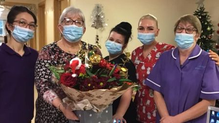 Some of the team at Glennfiled Care Home in Wisbech