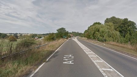 Police have closed the A134 at Nayland