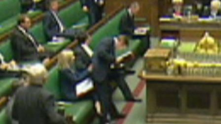 Liz Truss being sat on my minister George Eustice in her first Defra questions