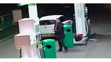A man at a petrol station in St Osyth